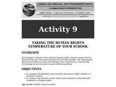 Taking the Human Rights Temperatutre of Your School Lesson Plan