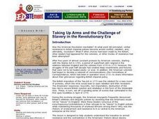 Taking Up Arms and the Challenge of Slavery in the Revolutionary Era Lesson Plan