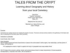 Tales From the Crypt Lesson Plan