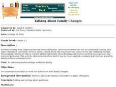 Talking About Family Changes Lesson Plan