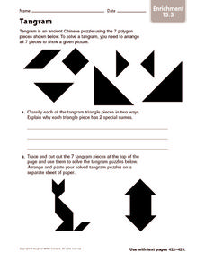 Tangram: Enrichment Worksheet