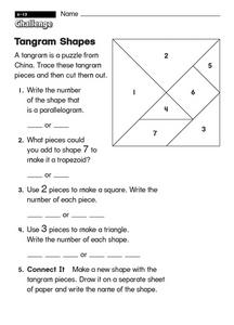 Tangram Shapes Worksheet
