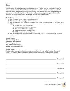 tanka 3rd 7th grade worksheet lesson planet. Black Bedroom Furniture Sets. Home Design Ideas