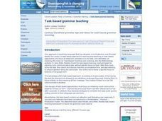 Task-based Grammar Teaching Lesson Plan