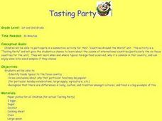 Tasting Party Lesson Plan