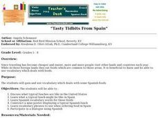 Tasty Tidbits From Spain Lesson Plan