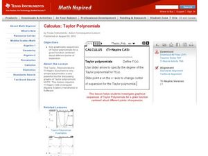 Taylor Polynomials Lesson Plan