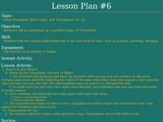 Tchoukball - Lesson 6 - Game Strategy Lesson Plan