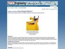 TE Activity: Does Weight Matter? Lesson Plan