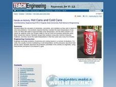 TE Activity: Hot Cans and Cold Cans Lesson Plan