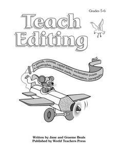 Teach Editing Worksheet