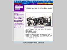 Teacher: Japanese Relocation/Internment Lesson Plan