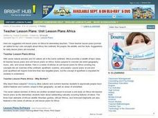 Teacher Lesson Plans: Africa Lesson Plan