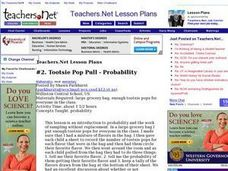 Teachers.Net Tootsie Pop Pull - Probability Lesson Plan