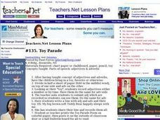 Teachers.Net Toy Parade (Elementary, Reading/Writing Lesson Plan