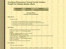Teaching Elementary Social Studies: Lesson Presentations Lesson Plan