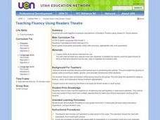 Teaching Fluency Using Readers Theatre Lesson Plan