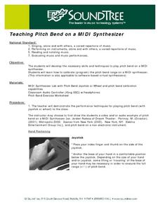Teaching Pich Bend on a MIDI Synthesizer Lesson Plan