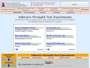 Teaching The Scientific Method Using Adhesives Lesson Plan