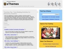 Teaching Tips: Team Building Activities for Elementary Students Lesson Plan