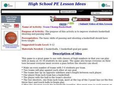 Team Champ Basketball Lesson Plan