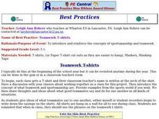 Teamwork T-shirts Lesson Plan