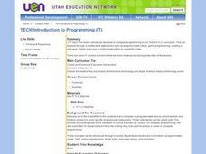 TECH:Introduction to Programming (IT) Lesson Plan
