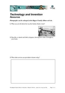 Technology and Invention Resources Worksheet