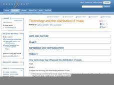 Technology and the Distribution of Music Lesson Plan