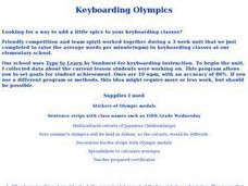 Technology:Keyboarding Olympics Lesson Plan