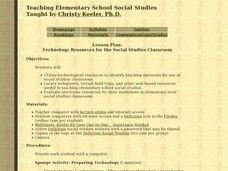 Technology Resources for the Social Studies Classroom Lesson Plan