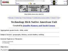 Technology Rich Native American Unit Lesson Plan