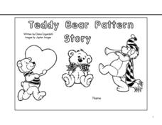 Teddy Bear Pattern Story- Make a Book Worksheet