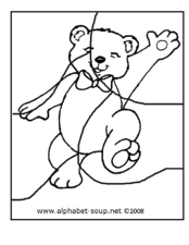 Teddy Bear Puzzle Worksheet Worksheet