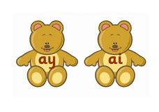 Teddy Bear Vowel Combinations Worksheet