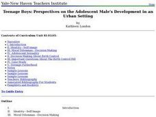Teenage Boys: Perspectives on the Adolescent Male's Development in an Urban Setting Lesson Plan