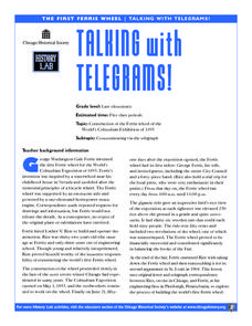 Telegrams! Lesson Plan