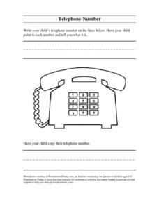 Telephone Number Lesson Plan