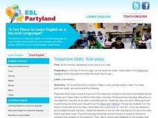 Telephone Skills: Role Plays Lesson Plan