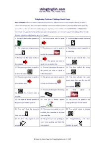 Telephoning Problems Challenge Board Game Worksheet