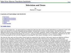 Television and Teens Lesson Plan