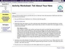 Tell About Your Hero and Publish the Essay Online Worksheet
