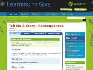 Tell Me A Story—Consequences Lesson Plan