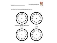 Telling Standard and Military Times Worksheet