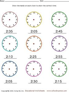 telling time drawing hands on a clock pre k 3rd grade worksheet lesson planet. Black Bedroom Furniture Sets. Home Design Ideas