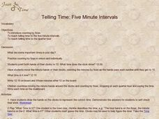 Telling Time: Five Minute Intervals Lesson Plan