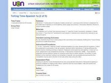 Telling Time-Spanish Lesson Plan