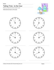 Telling Time to the Hour Lesson Plan