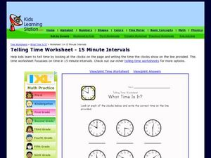 Telling Time Worksheet: What Time is it? Worksheet