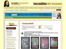 Tempera Batik Lesson Plan